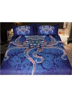 3D Octopus 3-Piece Bohemian Bedding Sets/Duvet Cover Sets