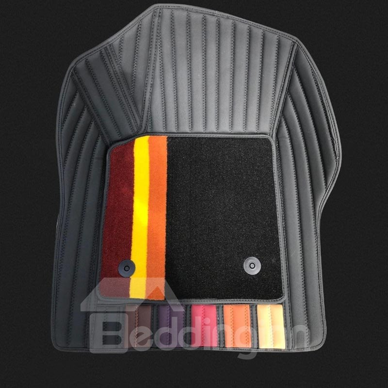 Car Floor Mats Fit 5 Seater Cars Leather All Weather