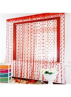 Romantic Loving Heart Design Decorative String Curtain W39 x H78.5 inch