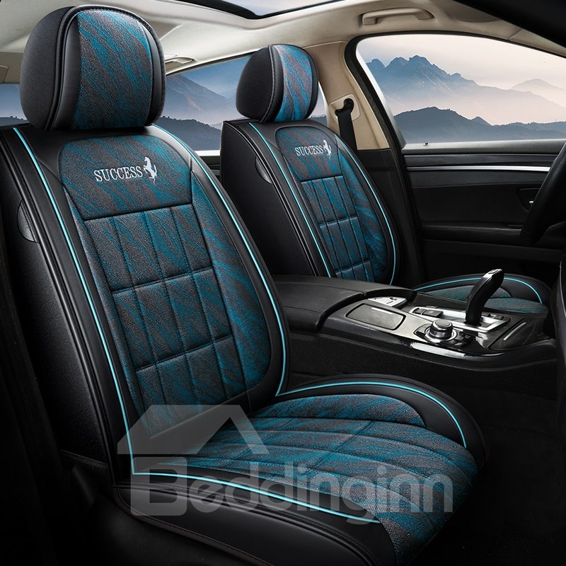 Horse Pattern 5 Seats Wear Resistant Leather Airbag Pic
