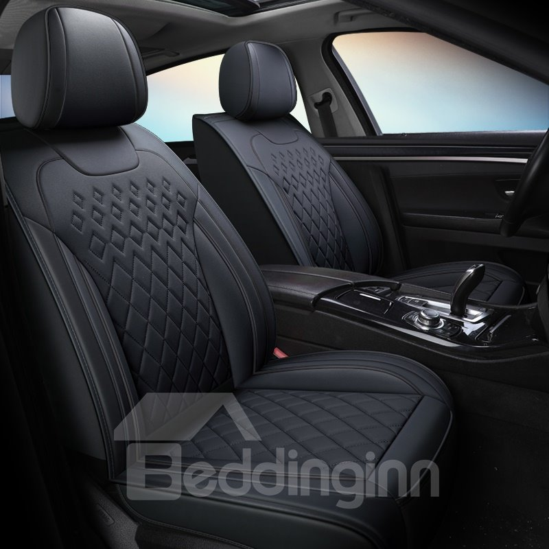 5 Seats Wear Resistant Leather Design Airbag Compatibility Pic