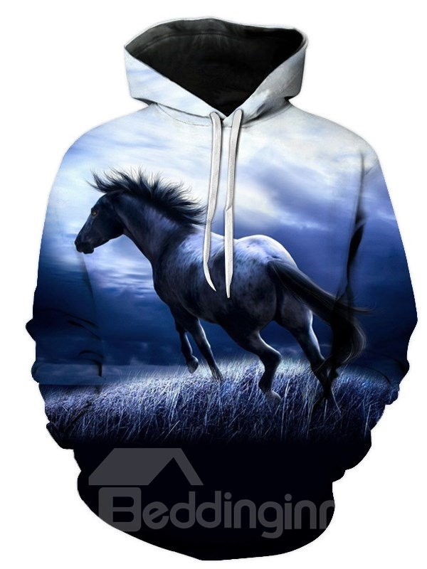 3D Horse Print Soft and Warm Long Sleeve Pullover Hoodies Sweatshirt Sweaters 3D Horse Print Soft and Warm Long Sleeve Pullover Hoodies Sweatshirt Sweaters