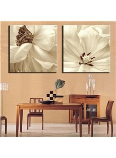 White Flowers Spray Painting Natural Scenery Modern Print Wall Decorations with Frame