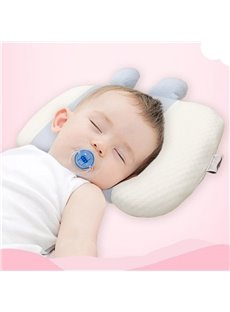 Baby Pillow for Newborn Breathable Cotton Pillow Protection for Flat Head Syndrome
