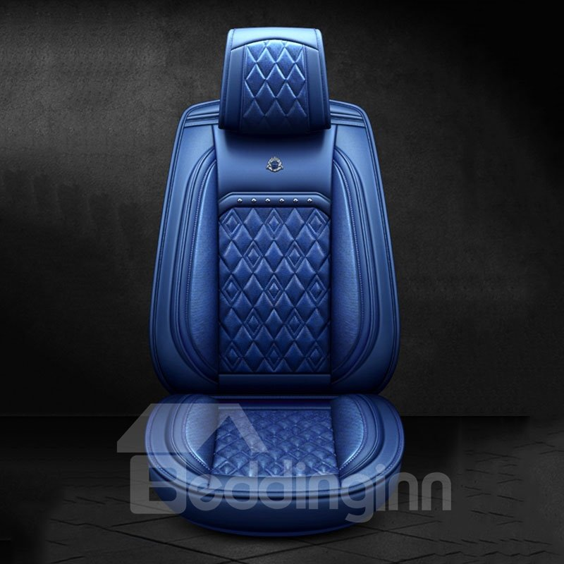 5-seater Wear Resistant Durable Modern Style Man-made Leather Material Plain Pattern Universal Pickup/ Sedan Car Seat Covers