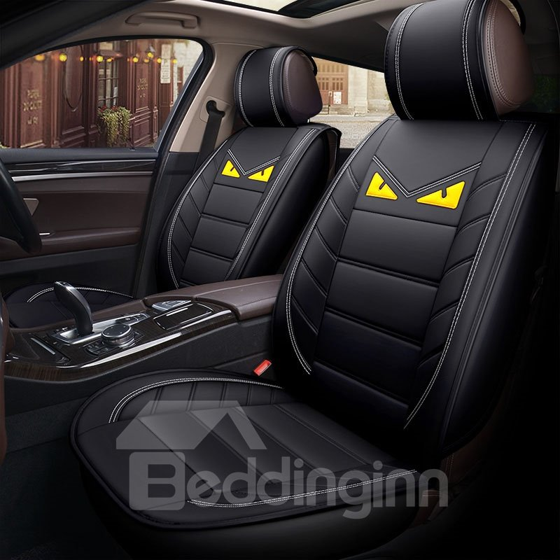 Cartoon Wear Resistant Breather Pvc Leather 5 Seats Pic