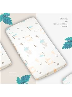 Cotton Fitted Sheet Elastic design with No Wrinkling Cartoon Baby Mattress Covers