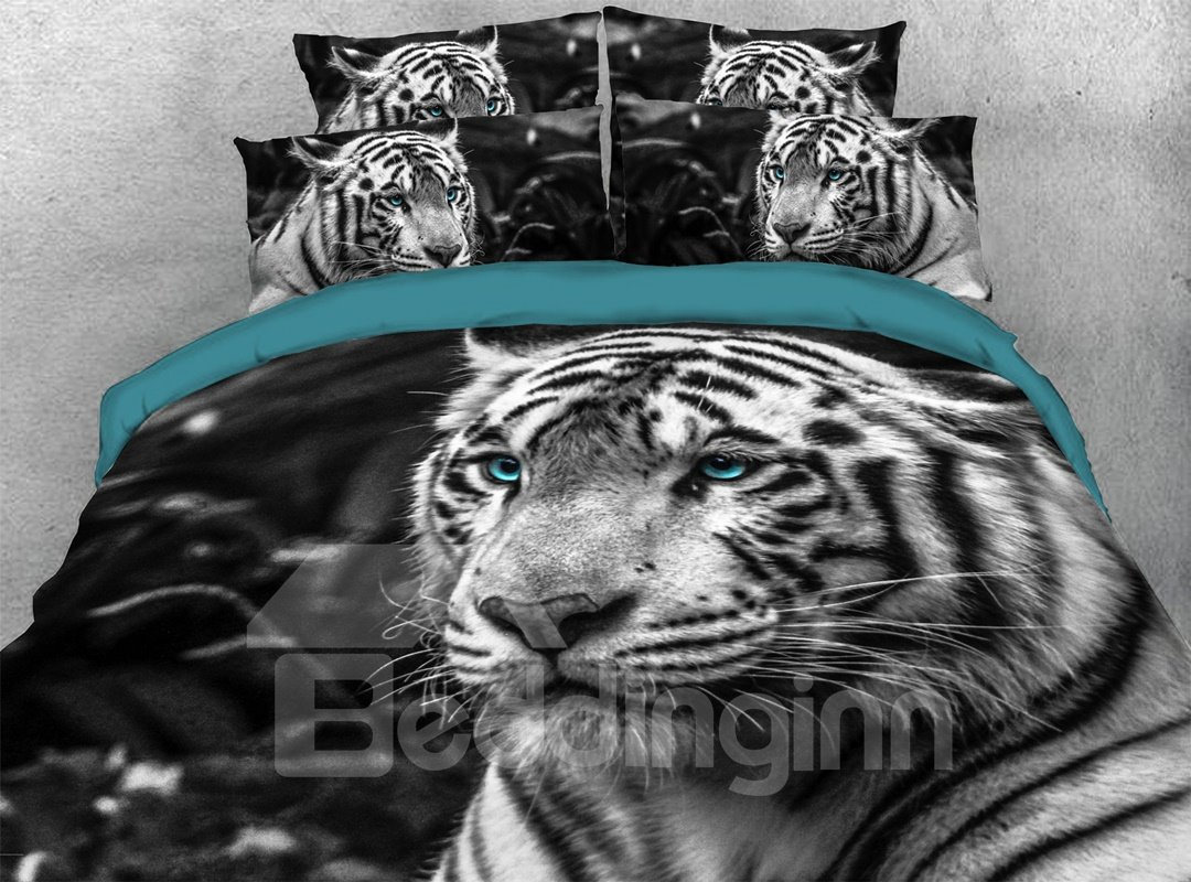 3d Tiger 5 Pcs Breeze Comforter Set Warm Soft Lightweight Pic