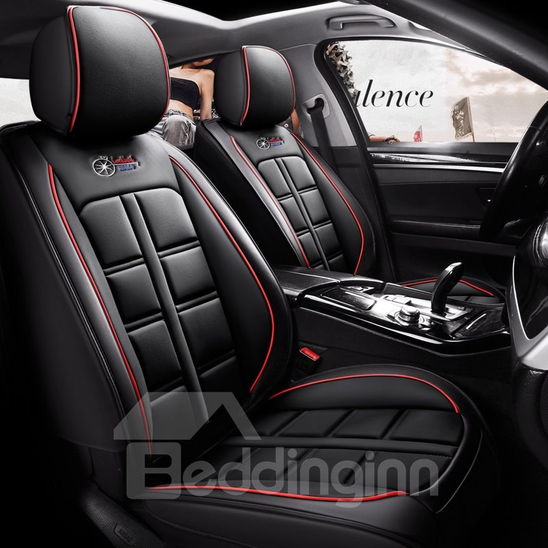 360° Full Enclosure Design Skin-Friendly Leather Wear-Resistant And Durable Three-Dimensional Fullness Airbag Compatible 5-Seater Universal Fit Seat Covers