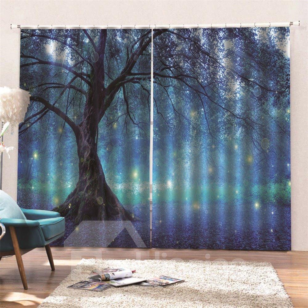 Blackout   Bedroom   Digital   Curtain   Print   Room   Live   3D