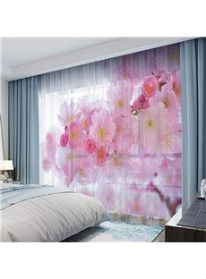 3D Digital Print Sheer Curtains 50% Shading Rate Fancy Chiffon Ultraviolet-Proof No Pilling No Fading No off-lining