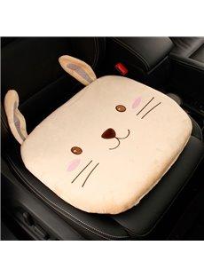 Plush Cartoon Car Cushion Thickened Bottom Anti-Skid Cute Bunny Bear Car Cushion