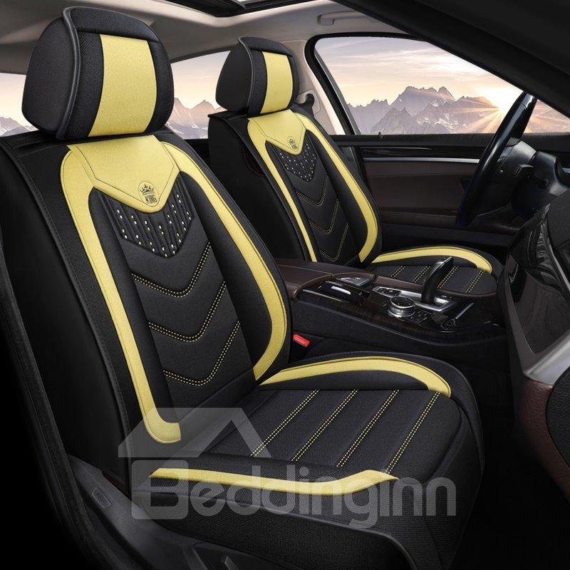 Car Seat Covers Full Coverage Flax Breathable Wear Pic
