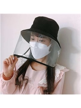 New Anti - droplet Fisherman Cap With Face Mask Protection Cap Anti - saliva