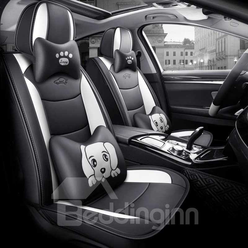 Cartoon Pu Modern Cotton Seat Cover Breathable Wear Pic