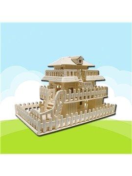 3-level House Puzzle DIY Children Assemble Puzzle Toys