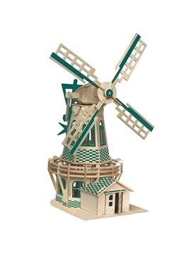 Dutch Windmill Puzzle DIY Children Assemble Puzzle Toys