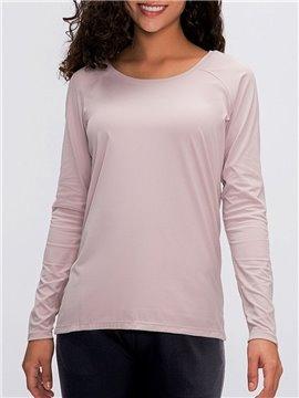 Women's Long Sleeve Yoga Tops Activewear Running Workouts T-Shirt Cross Back Sports Shirts Women Yoga Shirt