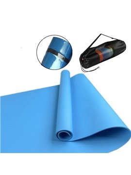Yoga Mat Eco-Friendly TPE Exercise Mats Non-Slip Pilates Mat with Carrying Strap for Yoga Workout Core Fitness and Floor Exercises