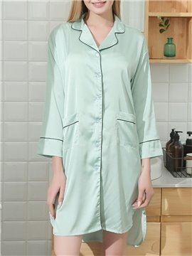 Smooth Chiffon Above Knee Women's Nightgowns Loose Home Dress