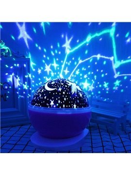 Automatic Rotation of the Star Projection Noiseless Lamp USB&Battery LED Night Light