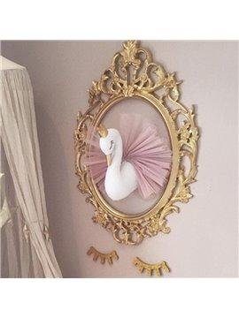 Golden Crown Swan Children's Room Decoration Party & Festivals Room Decor 15.7''*21.2''