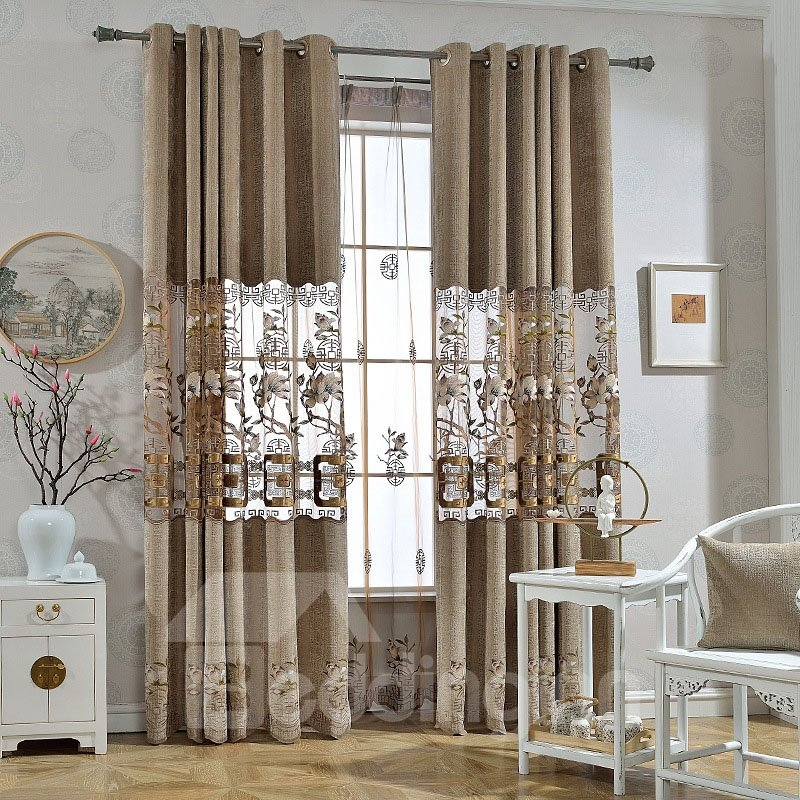 Elegant Embroidery Black Out Chenille Curtains 2 Panel Set 84 Inches Wide and 84 Inches Physically Blocks Light Nicely Prevents UV Ray Machine Wash Accepted Never Fading Cracking Peeling or Flaking Elegant Embroidery Black Out Chenille Curtains 2 Panel Set 84 Inches Wide and 84 Inches Physically Blocks Light Nicely Prevents UV Ray Machine Wash Accepted Never Fading Cracking Peeling or Flaking