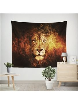 3D Wild Lion in Fire Wall Tapestry Home Decoration Wall Decorations