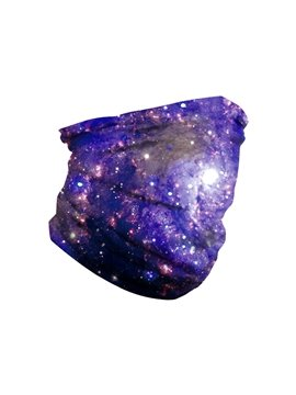Face Masks Starry Sky Digital Printing Outdoor Riding Mask Magic Headscarf Multi-purpose Neck Band High Elasticity Light Breathable Soft Skin Care Insect-resistant Dust Proof Anti Droplet
