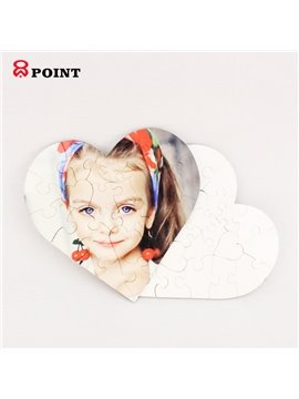 Easily Puzzle 7*7inch 23pcs Heart-shaped Educational Puzzles Support for Personality Customization
