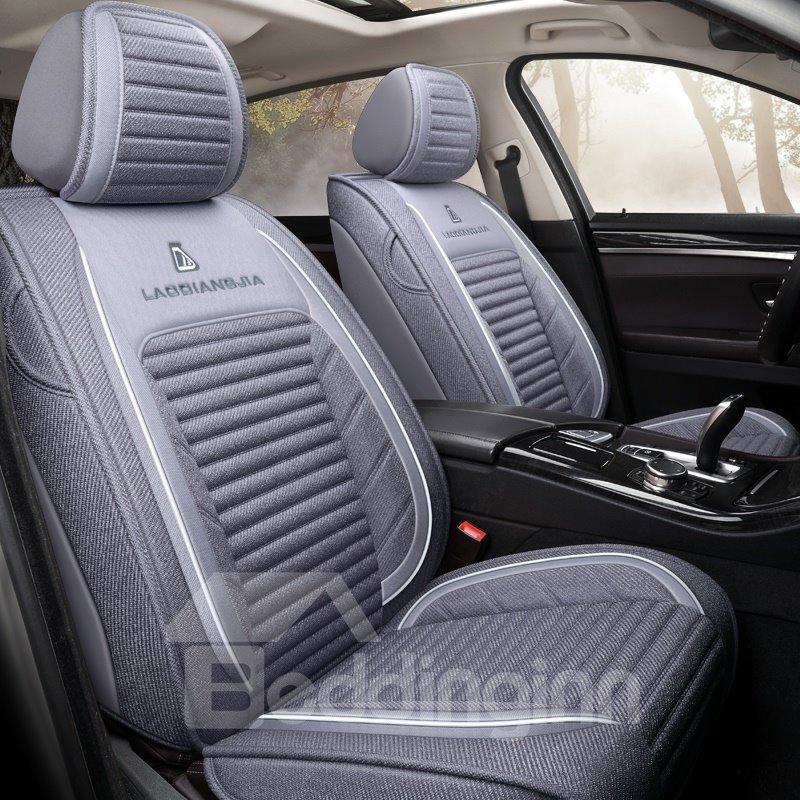 Microfiber Geometric Cotton Pastoral Seat Cover Non Pic