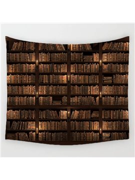 3D Bookcase Wall Tapestry Home Decoration Wall Decorations Bedspread Bed Cover Table Cloth Curtain