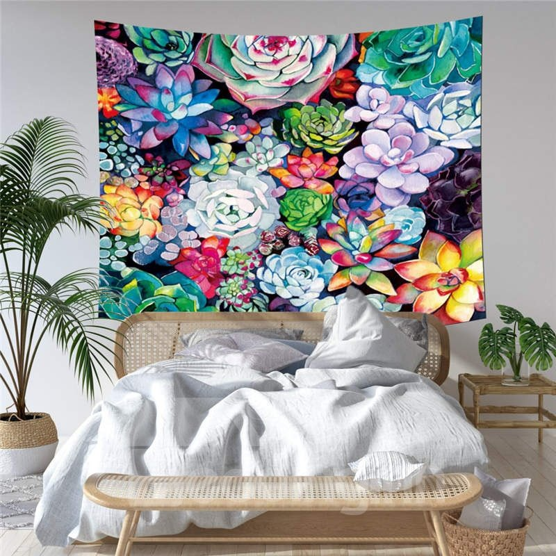 Decoration | Tapestry | Curtain | Cloth | Plant | Cover | Green | Table | Home | Wall | Bed | 3D