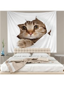 3D Cat Wall Tapestry Home Decoration Wall Decorations Bedspread Bed Cover Table Cloth Curtain
