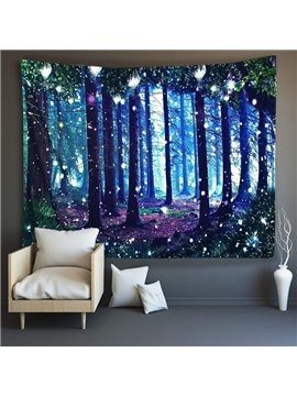 3D Forest Wall Tapestries Home Decoration Wall Decorations Bedspread Bed Cover Table Cloth Curtain