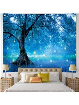 3D Starry Tree Wall Tapestries Home Decoration Wall Decorations Bedspread Bed Cover Table Cloth Curtain