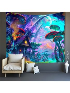 3D Mushroom Home Escape Wall Tapestries Home Decoration Wall Decorations Bedspread Bed Cover Table Cloth Curtain