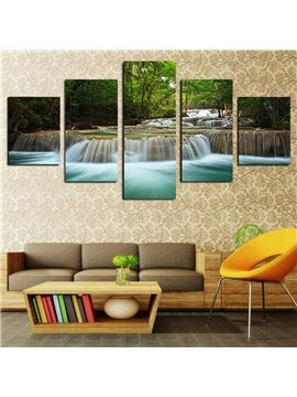 Green Leaves and Running Water Modern Landscape Spray Painting Calligraphy/Painting