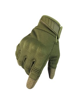 Outdoor Touch Screen Tactical Gloves Motorcycle Racing Riding Anti-slip Breathable Climbing Nylon Material Shield Fall-Proof All-Finger Gloves Protect Hands