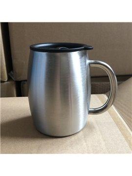 14 OZ Double Deck 304 Stainless Steel Coffee Mug Custom Gift Trade Mug Beer Mug Creative Pattern Business Style