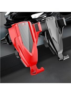 OEM Of Smart Light Sensor Vehicle-mounted Mobile Phone Bracket For Wireless Charging Air Outlet Of Vehicle-mounted Mobile Phone  Universal Car Fit