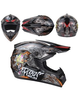 Motorcycle Cool And Personality All Seasons ATV Cross-country Helmet Men And Women Electric Bike Mountain Bike Full Helmet Karting Helmet