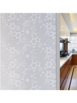 3D Snowflake Static Sticker Decorative Privacy No-glue Adiabatic Window Film