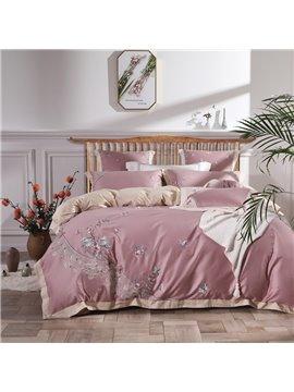 Embroidery Vintage Style Four-Piece Set Embroidery Duvet Cover Set Long Staple Long Staple Cotton Bedding Sets