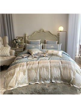 European Embroidery Four-Piece Set Duvet Cover Set Cotton Bedding Sets 2 Pillowcases