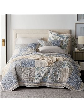 The Company Store Conditioner Quilt Summer Cool Quilt Reactive Printing Comforter Set Three-Piece Set 100% Cotton Bedding Sets