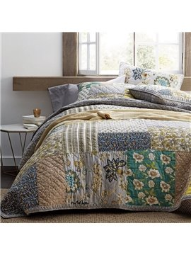 The Company Store Conditioner Quilt Summer Cool Quilt Three-Piece Set Reactive Printing Comforter Set Polyester Bedding Sets