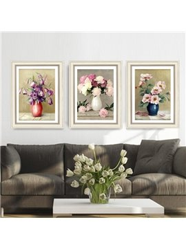 Flower Spray Painting Modern Calligraphy Painting Framed Prints