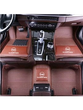 The Logo&Brand Can Be Printed High Quality Leather Moisture-Proof Skid Resistance Waterproof Wear-Resisting Custom Fit Floor Mats If You Do Not Find Your Car Or Have Special Needs Please Note In The Shopping Cart