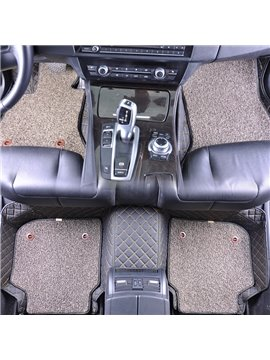 High Quality Durable PU Leather&Wire Coil Moisture-Proof Skid Resistance Waterproof Wear-Resisting Double-Layer Dismountable Fully Enclosed Custom Fit Floor Mats Most Cars Are Suitable If You Do Not Find Your Car Please Note In The Shopping Cart
